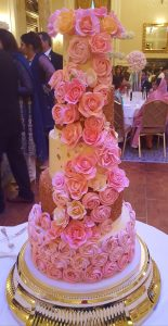 A rather spectacular wedding cake at a recent wedding I attended