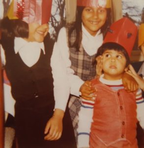 The Khan siblings many moons ago (which one am I?)